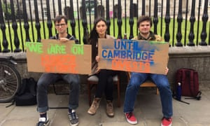 Three students have embarked on a hunger strike until the University of Cambridge commits to full divestment from fossil fuels