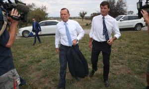 Then PM Tony Abbott and Taylor in 2015
