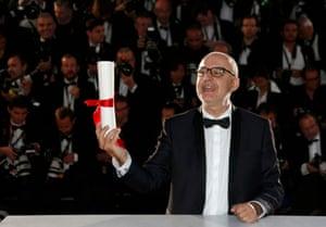 Director Juanjo Giménez Peña, the short film Palme d'Or award-winner for his film Timecode