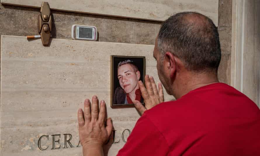 Martino Ceravolo for the memorial to his son, Filippo Ceravolo, murdered in 2012, and to all the innocent victims of the mafia.
