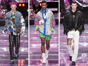 Models wearing Donatella Versace