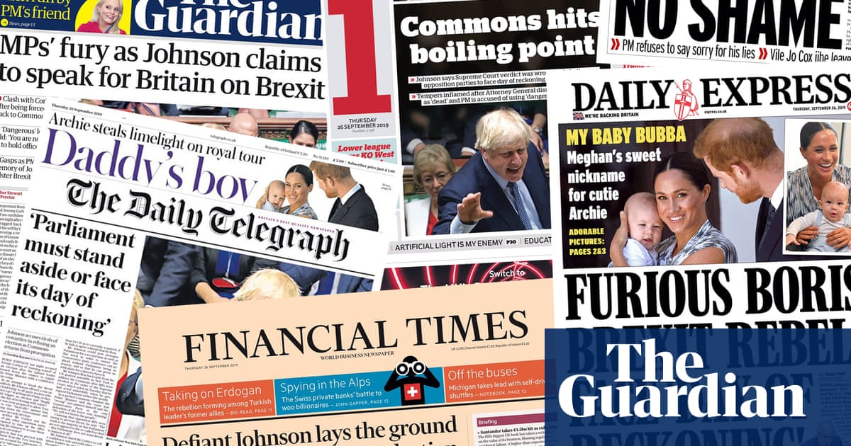 Man with no shame: the papers on Boris Johnsons performance in the Commons