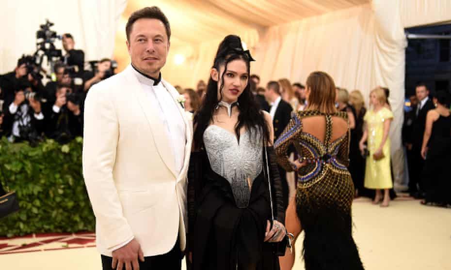 Elon Musk and Grimes attend Met Ball, New York City, 7 May 2018.