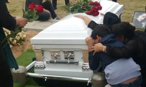 The funeral of Fariborz Karami, who killed himself on Nauru.