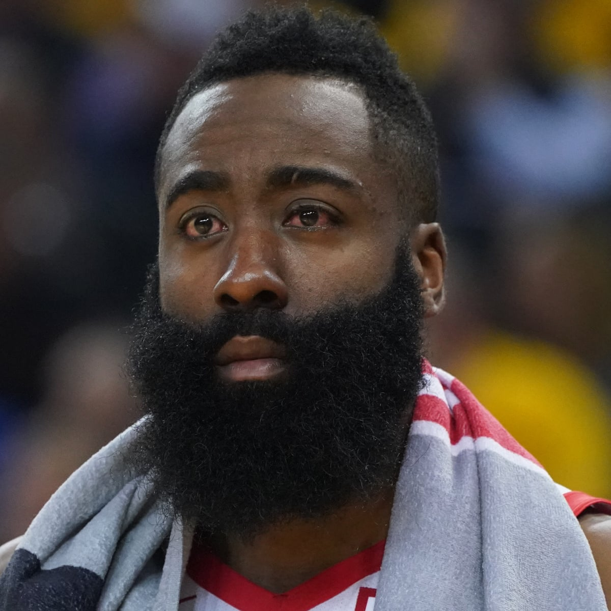 James Harden Bleeds In Both Eyes During Loss To Warriors And Scores 29 Points Houston Rockets The Guardian