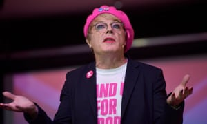 Eddie Izzard speaking during an EU referendum debate last month.