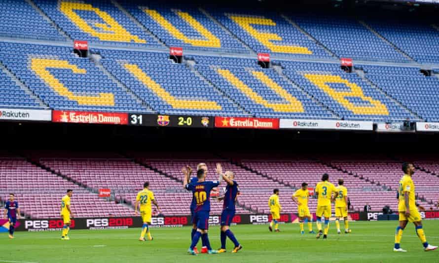Lionel Messi celebrates his 14th goal of the season.