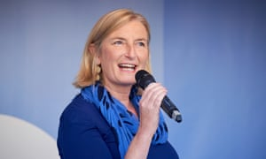 Sarah Wollaston speaking at People's Vote rally last month.