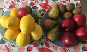 Rosie's photo of lemons, pears and apples.