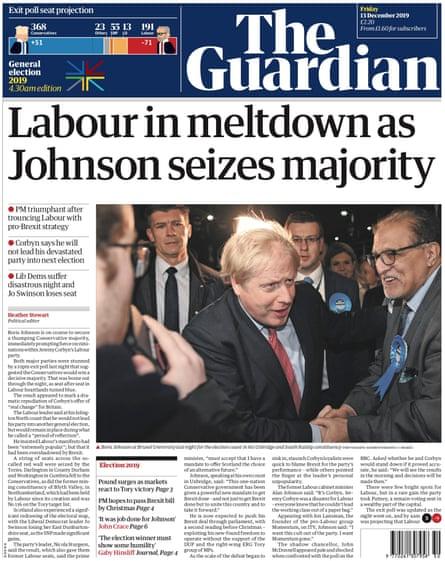 Guardian final edition, Friday 13 December 2019