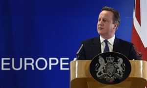 David Cameron delivering a press conference