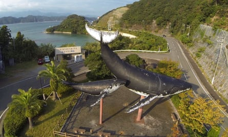Whale statue at the entrance to Taiji