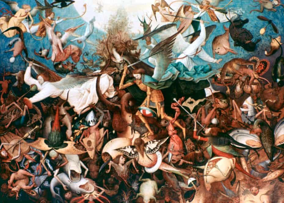 Bruegel's The Fall of the Rebel Angels, 1562.