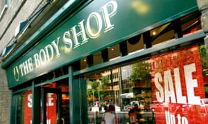 exterior of The Body Shop in Islington, north London