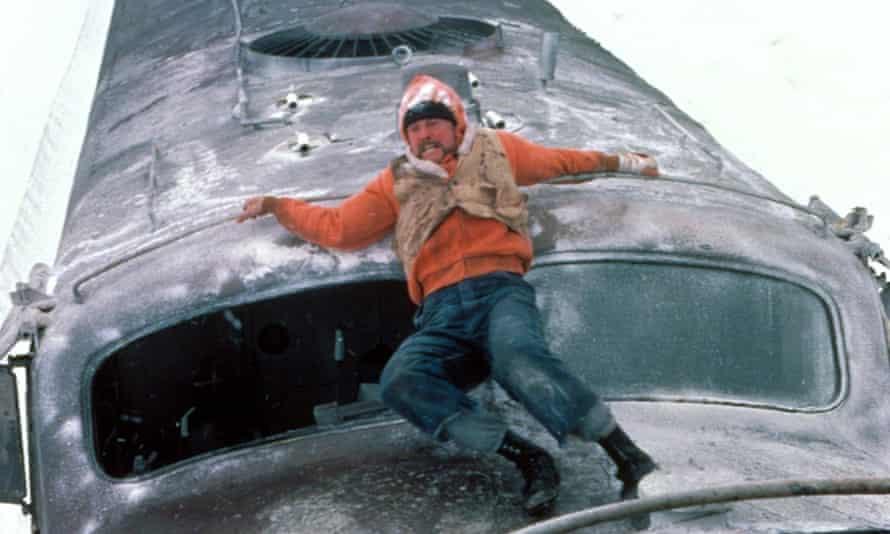 Jon Voight on the roof of a speeding train in 1985's Runaway Train.