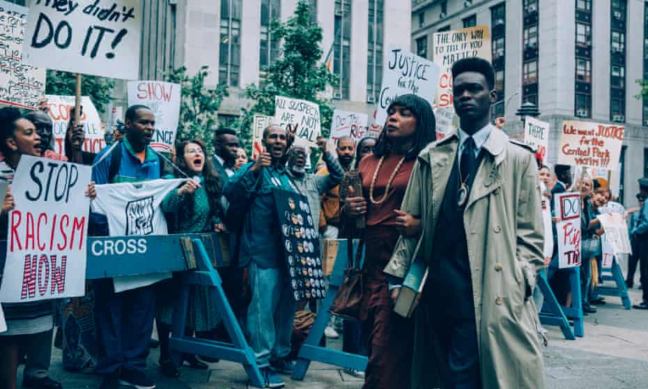 … Aunjanue Ellis and Ethan Herisse in When They See Us.