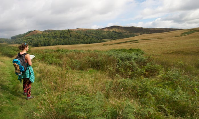 The author's friend heads north-east from Aberfoyle.