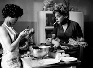 Riva plays Marilina and Simone Signoret plays Adua Giovanetti in  Hungry for Love, 1960