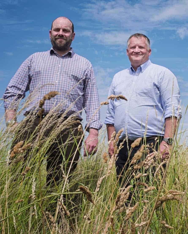 Bill Hampton, left, and David Ainsworth test their alternative energy solution.