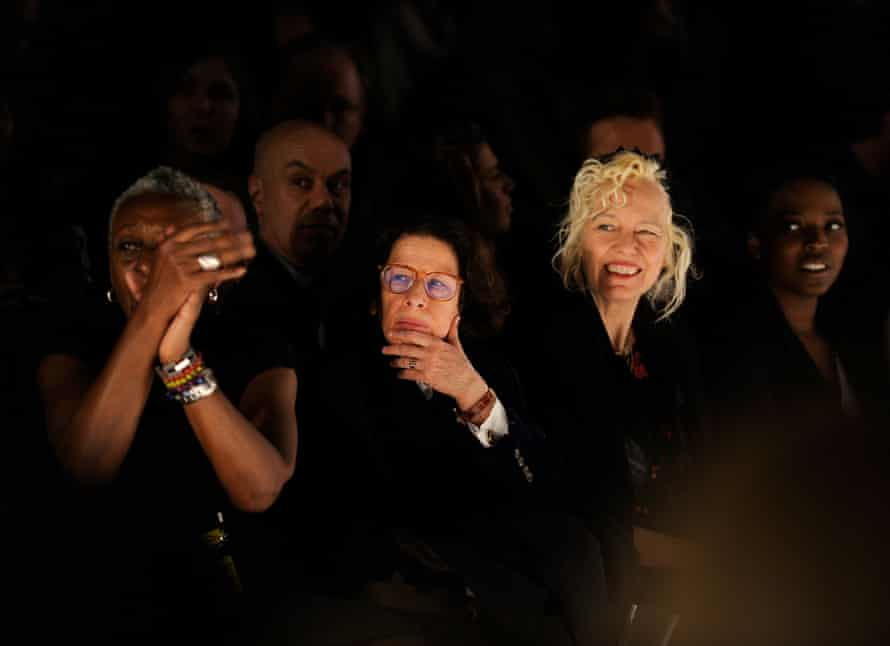 Fran Lebowitz at Naomi Campbell's Fashion for Relief show in 2010