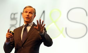 M&S chief Marc Bolland. Underlying pre-tax profit in the six months to the end of September increased 6.1% to £284m