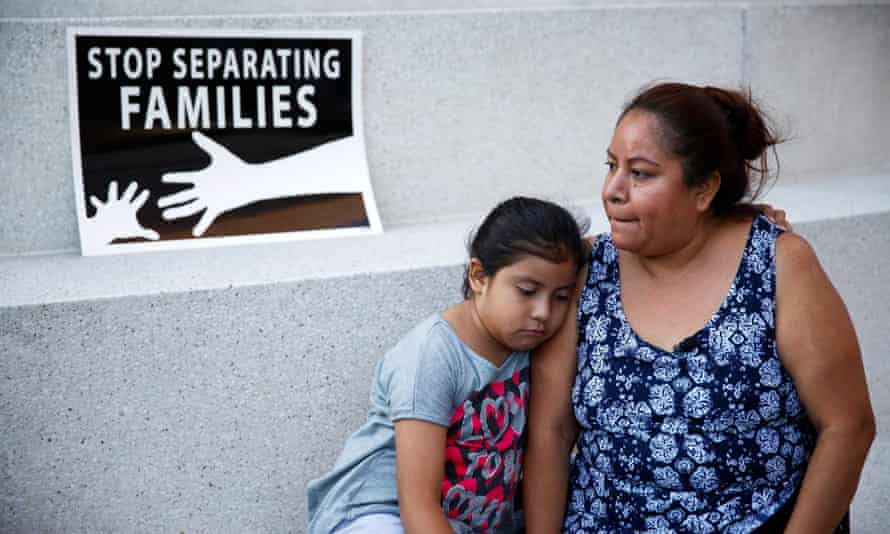 Undocumented immigrants react after the US Supreme Court issued a split ruling on Obama's Immigration Policy in June 2016 in Los Angeles.