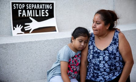 An undocumented immigrant and her daughter outside the supreme court in June, after a ruling which had implications for the Daca program.