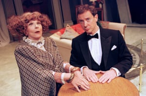 Fenella Fielding and Robin Kermode at the Salisbury Playhouse in 1999.