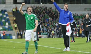 Northern Ireland's Corry and Jonny Evans