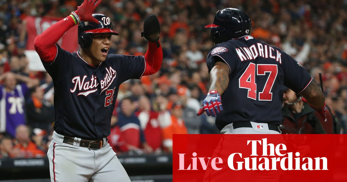 Washington Nationals beat Houston Astros in Game 7 to win World Series – live!