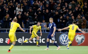 The defeat against Kazakhstan in their opening group game of the Euro 2020 qualifying meant Scotland were always facing an uphill battle