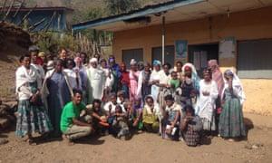 The BEZA volunteer team in Lalibela