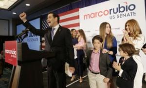Marco Rubio won re-election to his Florida Senate seat.