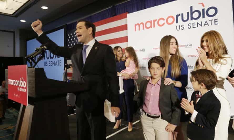 Marco Rubio won re-election to his Florida Senate seat.