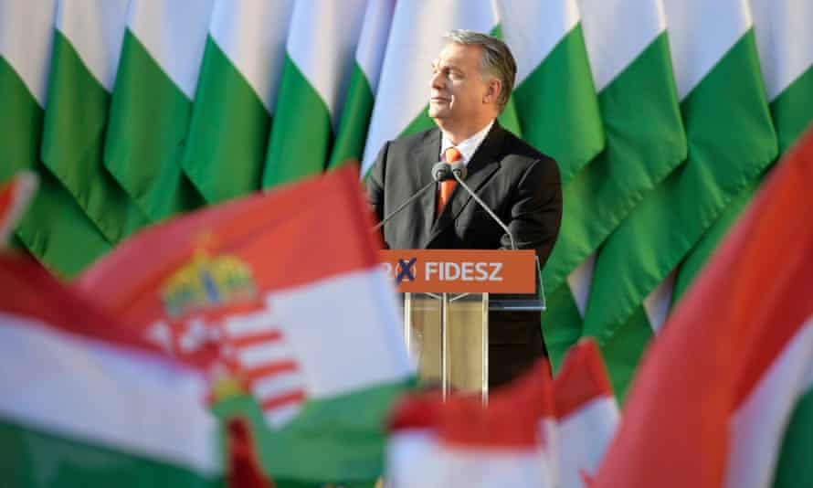 The Hungarian prime minister, Viktor Orbán, who leads the far-right Fidesz party.