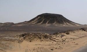 Black Desert in the Al-Wahat-Al-Bahariya region of Egypt