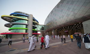 Khalifa International Stadium in Doha, Qatar. The stadium was officially opened in May 2017