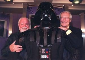 Norman and Richard Attenborough meet Darth Vader in 1999