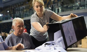 Votes being counted in the EU referendum on 23 June