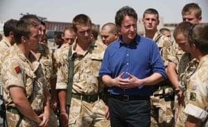 David Cameron meets British troops in Helmand province, Afghanistan, 2007