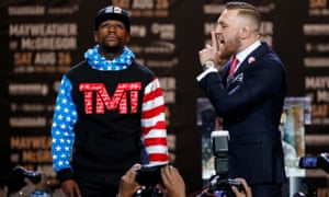 Floyd Mayweather takes in the wisdom of Conor McGregor