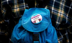 A button at a protest after recent killings of trans women, in New York, New York on 24 May 2019.