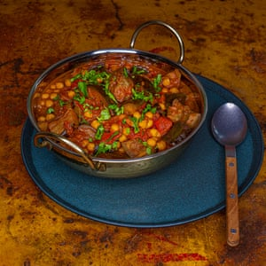 Curry de berenjena.
