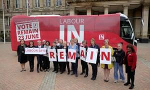 A Labour campaign bus in June 2016.
