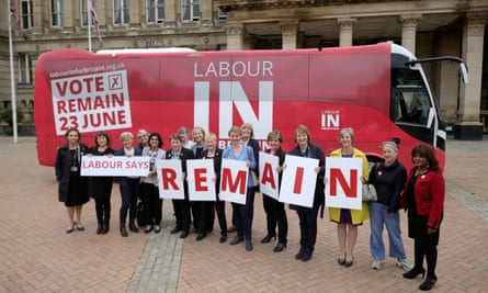 A Labour campaign bus in June 2016.
