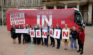 On the road with Labour Remain battle bus