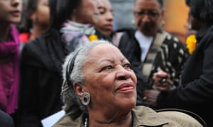 In this file photo taken on November 05, 2010 Nobel-winning US novelist Toni Morrison (C) attends the unveiling ceremony of a memorial bench marking the abolition of slavery in Paris (the first to be inaugurated outside the United States by the Toni Morrison Society) in Paris.