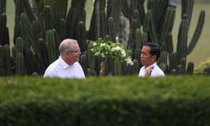 Scott Morrison with Indonesia's Joko Widodo