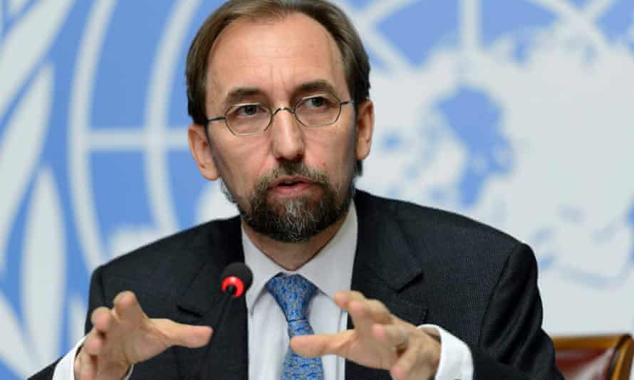 The UN high commissioner for human rights Zeid Ra'ad Al Hussein
