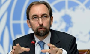 Zeid Ra'ad Al Hussein, the UN high commissioner for human rights